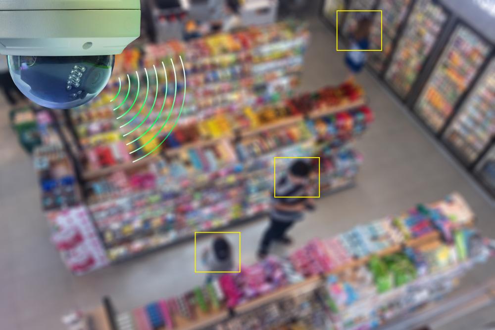camera, khách hàng, hàng hóa